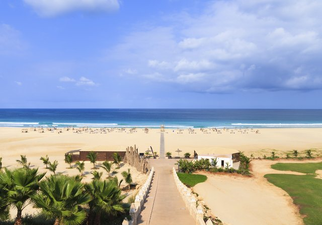 Beautiful view on beach and ocean, Boavista, Cape Verde - Cabo Verde