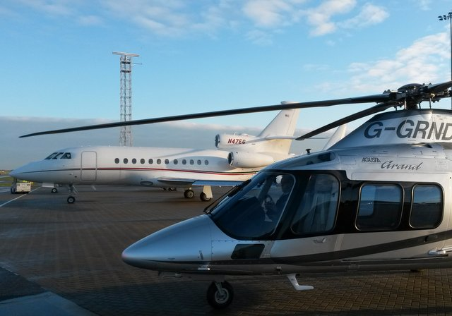 Airport transfers with chartered helicopters